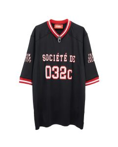 032c FOOTBALL JERSEY WITH PUFF PRINT / BLACK
