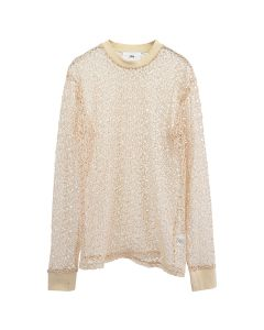 369 SEE-THROUGH NET L/S / IVORY WHITE