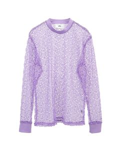 369 SEE-THROUGH NET L/S / PURPLE