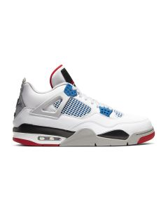 NIKE AIR JODAN 4 RETRO (GS) / 146 : WHITE/MILITARY BLUE-FIRE RED