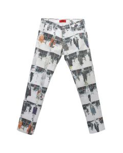 424 RUNWAY DENIM PANT / WHITE