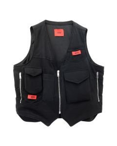 424 REWORKED TEE VEST / BLACK
