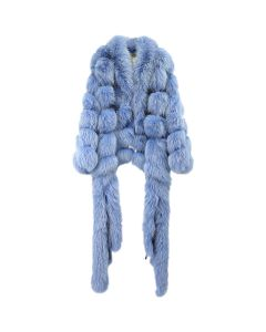 ASTRID ANDERSEN FUR COAT 1 SAGA CERTIFIED FOX / BLUE