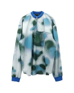 Artica - Arbox SPLATTER PRINT L/S / J077 : SPRAY GREY-EMERALD