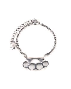 ALICE BLACK AMU/SAD KNUCKLE BRACELET / SILVER