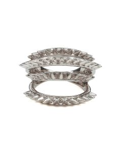 ALAN CROCETTI SPACE SPUR RING / RHODIUM