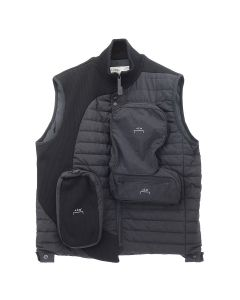 A-COLD-WALL* PUFFER GILET WITH ASYMMETRICAL / BLACK