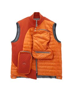 A-COLD-WALL* PUFFER GILET WITH ASYMMETRICAL / ORANGE