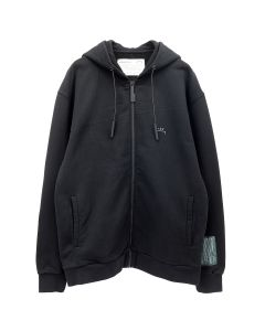 A-COLD-WALL* CLASSIC FLAT OVERLOCK ZIP HOODIE / BLACK