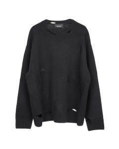 A-COLD-WALL* OVERSIZED DESTROY KNITTED JUMPER / BLACK
