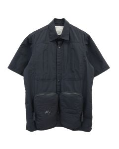 A-COLD-WALL* UTILITY POCKET SHIRT SLEEVR SHIRT / BLACK