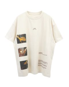 A-COLD-WALL* GLASS BLOWER T-SHIRT / ALMOND MILK