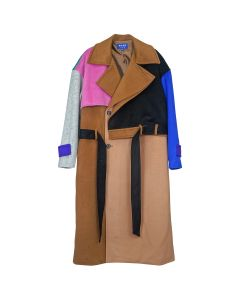 ADER Error OVERSIZED WOOL COAT / BROWN