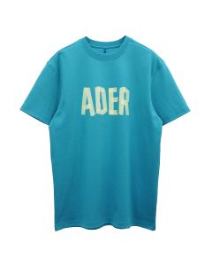 ADER Error PRINT AT FRONT T-SHIRT / TURQUOISE