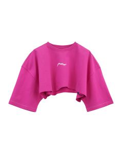 ADER Error OVERSIZED CROP GRAPHIC PRINT / PINK