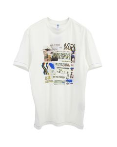 ADER Error SEMIOVERSIZED GRAPHIC TOP / WHITE