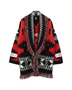 Alanui ICON JACQUARD WS OS CARDIGAN / 2588 : LA SCALA RED