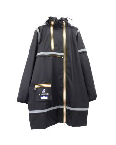 AFTERHOMEWORK KWAY MULTI POCKET TAPED RAINCOAT / BLACK
