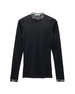 Aries COTTON LONG SLEEVE TOP / BLACK