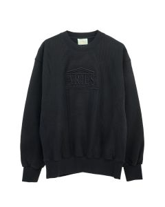Aries EMBROIDERED TEMPLE SWEAT / BLACK