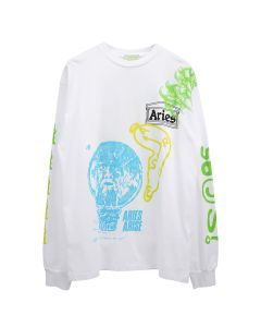 Aries FRENCH MONSTER SS TEE / WHITE