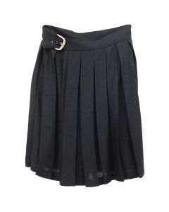 ART SCHOOL PLEATED SCHOOL SKIRT / BLACK