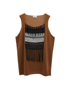 FN-MN-KNIT000155 / RUST BROWN