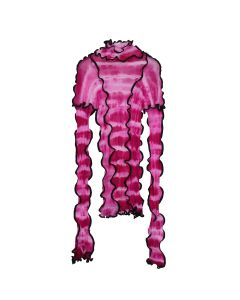ASAI HOTWOK/ASAICON PATCHWORK STRETCH TIE DYE SEAMED / HOT PINK PA PINK