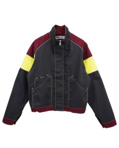 AFFIX TRI-COLOUR WORK JACKET / GREY-BURGUNDY-HV YELLOW