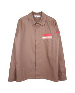 AFFIX BEACH SHIRT / BROWN