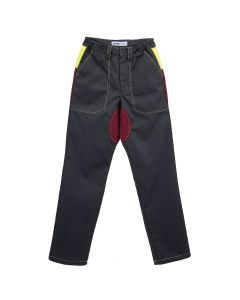 AFFIX TRI-COLOUR WORK PANT / GREY-BURGUNDY-HV YELLOW