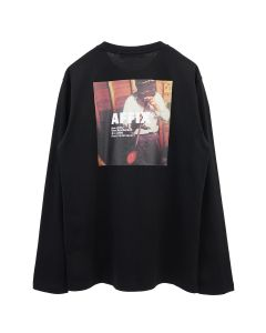 AFFIX LONG SLEEVE RADIO T-SHIRT / BLACK