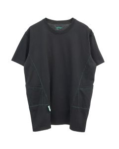 AFFIX PANELLED WORKWEAR T-SHIRT / BLACK