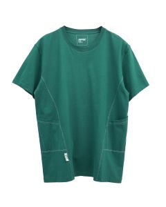AFFIX PANELLED WORKWEAR T-SHIRT / GREEN