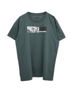 AFFIX BANNER T-SHIRT / DARK GREY