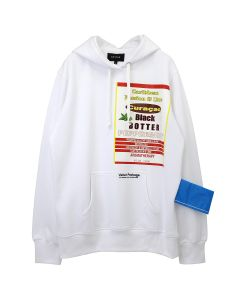 BOTTER HOODY WITH BOTTER BADGE / WHITE