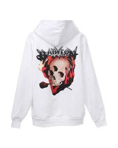 Babylon and Born x Raised DEATH METAL HOODIE / WHITE