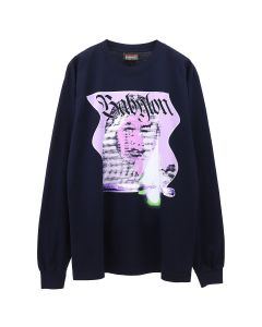 Babylon LA BURN L/S T-SHIRT / NAVY