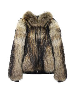 BALMAIN BH2 LEATHER JACKET FUR RACOON / 107