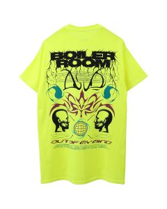 BOILER ROOM MIND CONTROL TEE / BLK ON NEON YELLOW