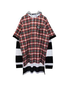 BURBERRY M JWEAR HOODIE / A8702 : BRIGHT RED CHECK
