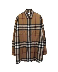 BURBERRY M CASUAL SHIRT SS / A8492 : BIRTH BROWN IP PTTN