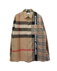 BURBERRY M CASUAL SHIRT LS / A7028 : ARCHIVE BEIGE IP CHK