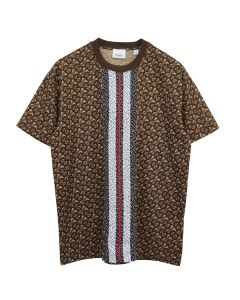 BURBERRY W JWEAR T-SHIRT / A7436 : BRIDLE BROWN IP PTTN