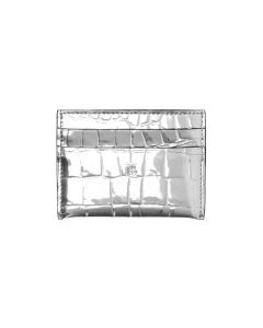 BURBERRY W CARD CASE / A1422 : SILVER