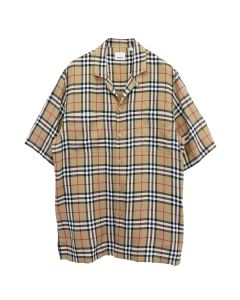 BURBERRY M CASUAL SHIRT SS / A7028 : ARCHIVE BEIGE IP CHK