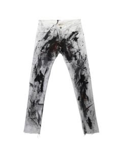 BOND VAULT IGGY ALL OVER PAINT DENIM / WHITE