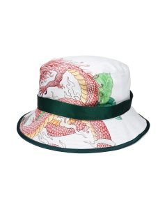 Casablanca GARDIEN DOKINAWA BUCKET HAT CO/SE / 010 : WHITE