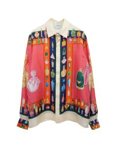 Casablanca PRINTED LONG SLEEVE SILK SHIRT / 038 : LES PARFUMS