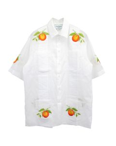 Casablanca EMBROIDERED SHIRT / 035 : LES ORANGES BLANCHE